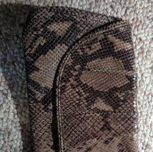 Banana Republic Snake Skin Print Hand Bag/Clutch